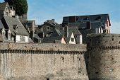 Fortifications And Ramparts Of Mont Saint Michel