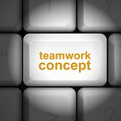 Teamwork Concept With Computer Keyboard