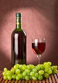 Green Grapes And Red Wine