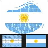 Scratched Flag Of Argentina