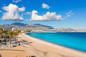 Altea Playa del Albir of white stones in Alicante Mediterranean Spain