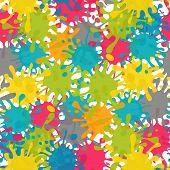 Vector Splash Abstract Seamless Pattern Background