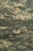 Universal Camouflage Pattern, Army Combat Uniform Digital Camo, Usa Military Acu Macro Closeup