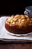 Rustic Apple Cake on a Plate