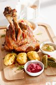 roasted pork knuckle