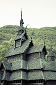 Borgund Stave Church. Built In 1180 To 1250, And Dedicated To The Apostle St. Andrew