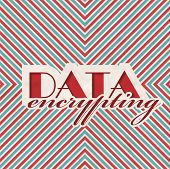 Data Encrypting. Retro Design Concept