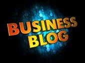 Business Blog - Gold 3D Words