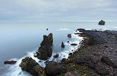 Coastal Rocks On The South West Point Of Iceland, Reykjanes