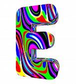 Psychedelic alphabet-E
