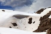 Snow Cornice In Spring Mountains