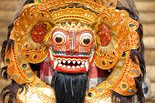 Bali Mask During A Classic National Balinese
