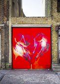 LONDON, UK - APRIL 18, 2014: Graffiti on Fournier Street, Banglatown, Spitalfields / Whitechapel.