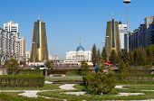Nurzhol Boulevard In Astana. Kazakhstan