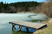 Ice-covered Spring Pond