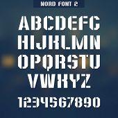 Stencil-plate Font