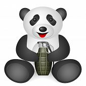 stock photo of grenades  - Panda grenade on a white background - JPG
