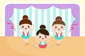 Little Girls In A Ballet Performance