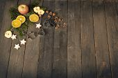 Rustic Christmas Baking Background
