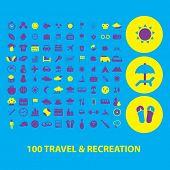 100 travel icons