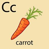 Hand Drawn Carrot With Top