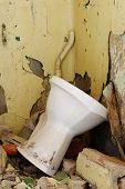 old toilet bowl