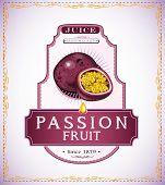 Passion fruit product label