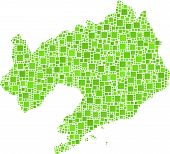 Isolated map of Liaoning - China -