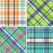 picture of tartan plaid  - Collection of seamless plaid patterns - JPG