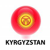 Orb Flag Kyrgyzstan