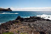 Rocky south coast of madeira