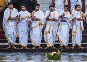 Hindu Priests in Haridwar, India.