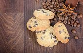 Cookies, coffee beans and anise