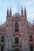 Cathedral in Milan (Duomo di Milano) on a sunset