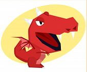 Dragon with big head