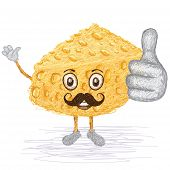 Cheese Mustache