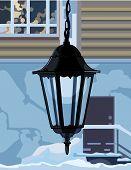 Decorative Wrought Iron Lamp.