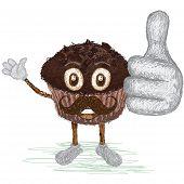 Chocolate Muffin Mustache