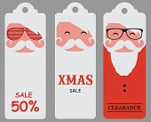 Christmas hipster santa sale tags