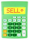 Calculator With Sell On Display Isolated