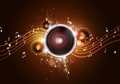 Music Party Gold Background