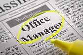 Office Manager Jobs in Newspaper.