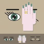 Vision screening check icon