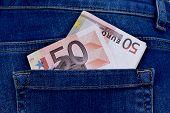 Money In Trouser Pocket