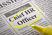 Chief HR Officer Vacancy in Newspaper.