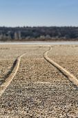 The Road Along The Bottom Of The Dried Lake, Shallower Depth Of Field