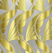 art deco gold leaf background