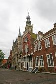 stock photo of veer  - cobbled street in the medieval town of Veere - JPG