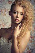 Curly Fashion Woman
