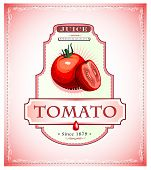 Tomato product label